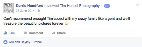 Review of wedding photography by Tim Hensel