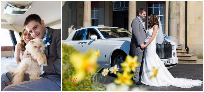 wedding car photography in cheshire