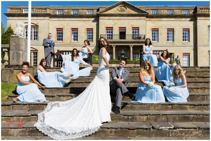 creative wedding photography at shrigley hall
