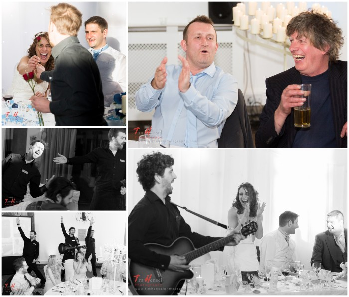 reportage wedding photography with the singing waiters