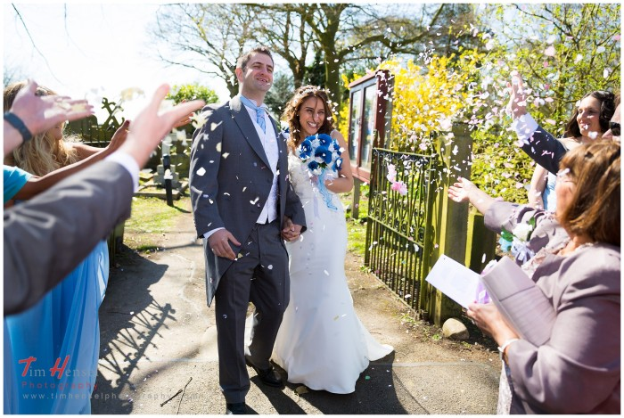 wedding photography at mellor church, cheshire