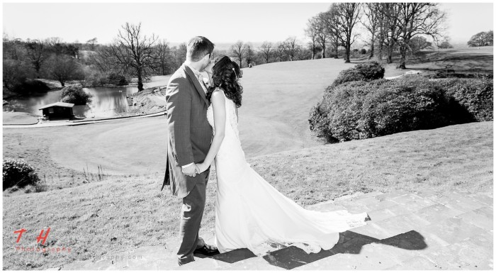 bridal portrait at shrigley hall, cheshire