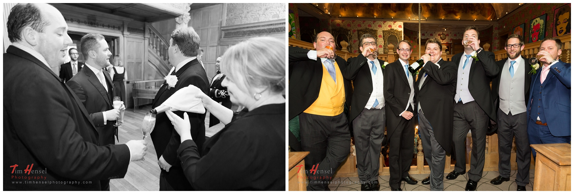 wedding drinks reception photos at thornbridge hall - relaxed, fun and natural.