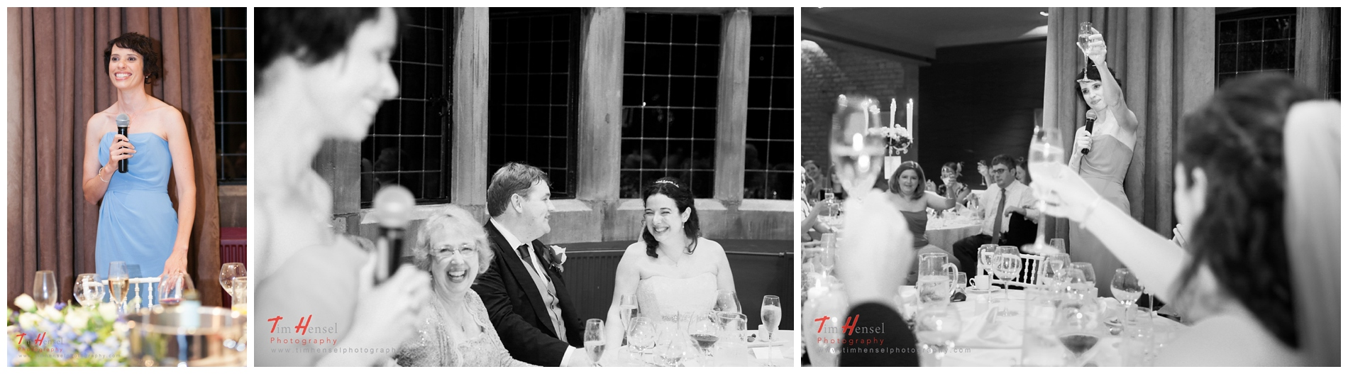 More relaxed documentary wedding photography, speeches at thornbridge hall