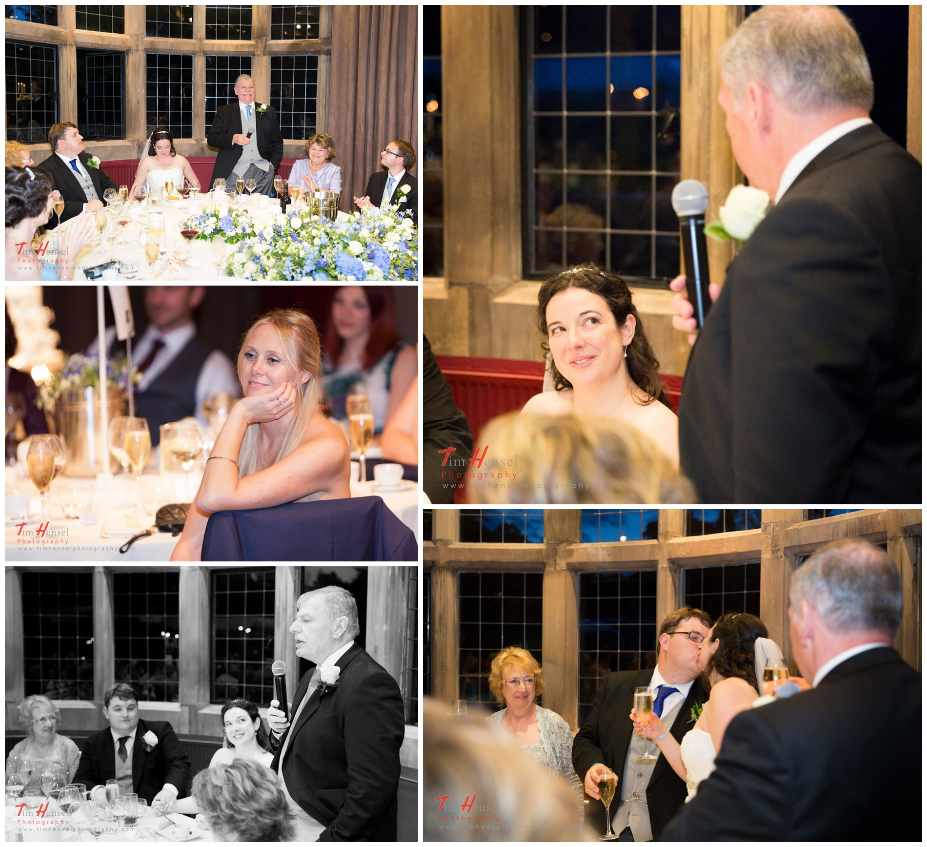 Speeches photography during the wedding at thornbridge hall