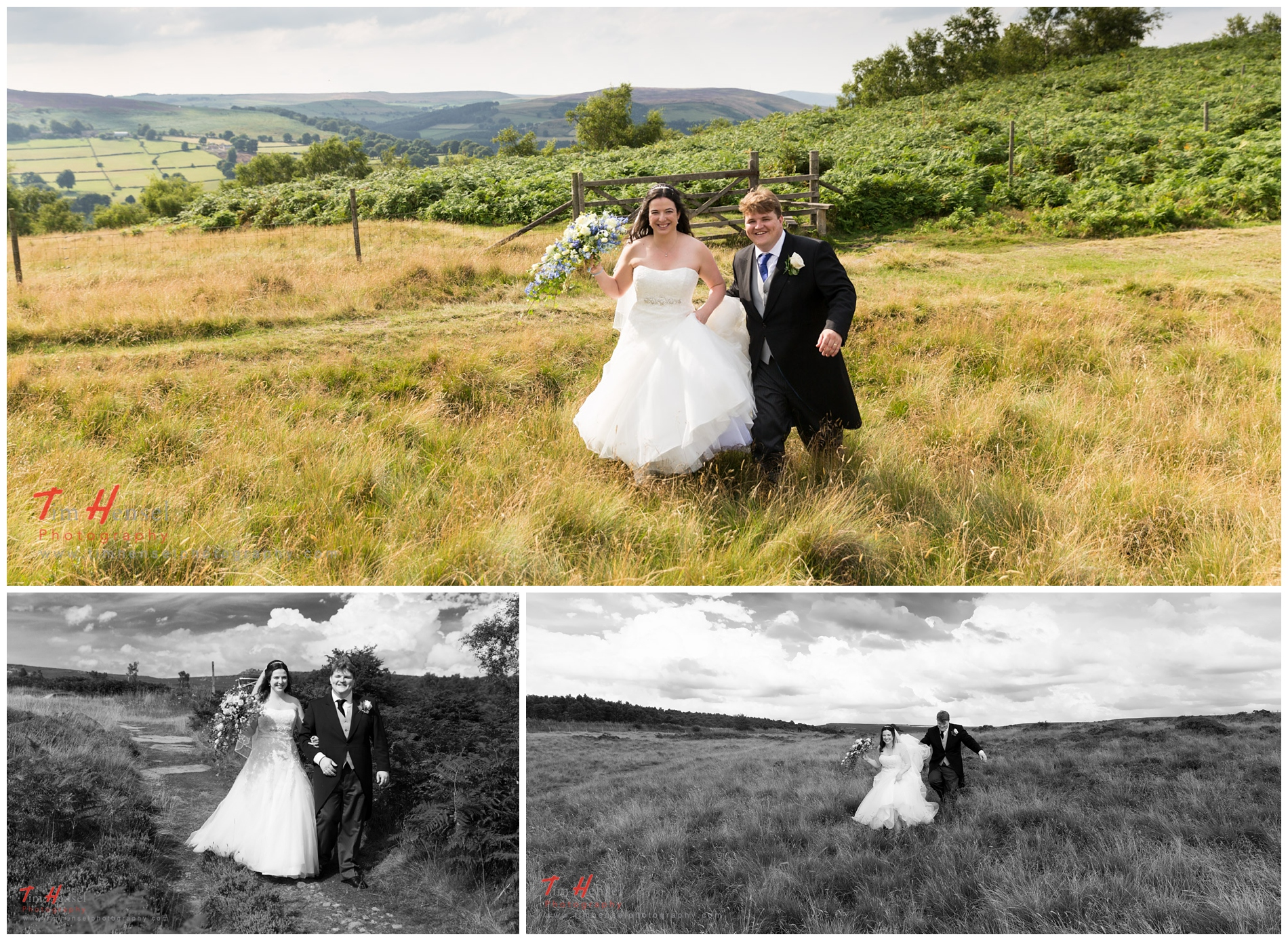 relaxed natural wedding photographer in derbyshire's peak district