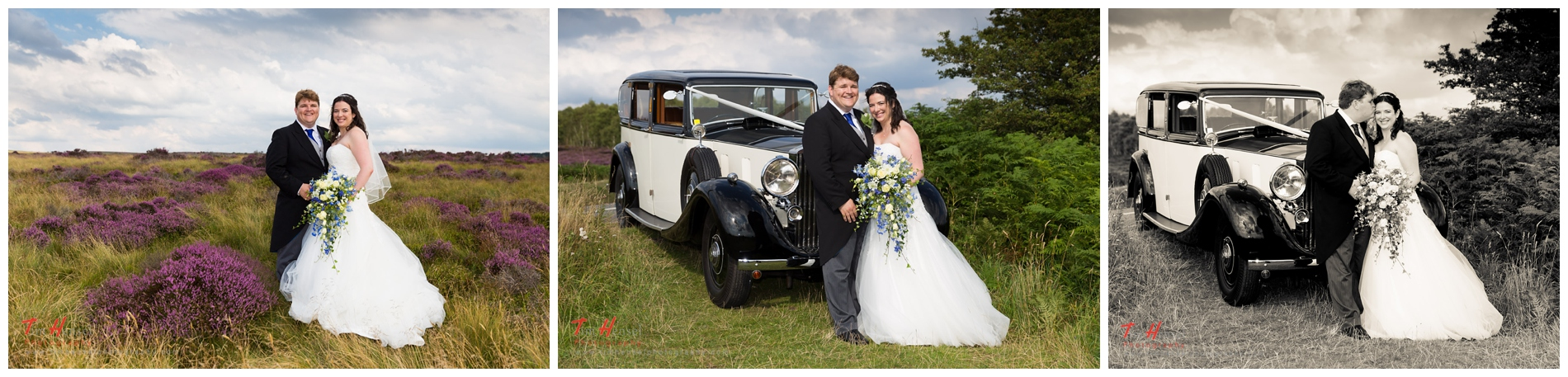 derbyshire wedding photography with a vintage rolls royce
