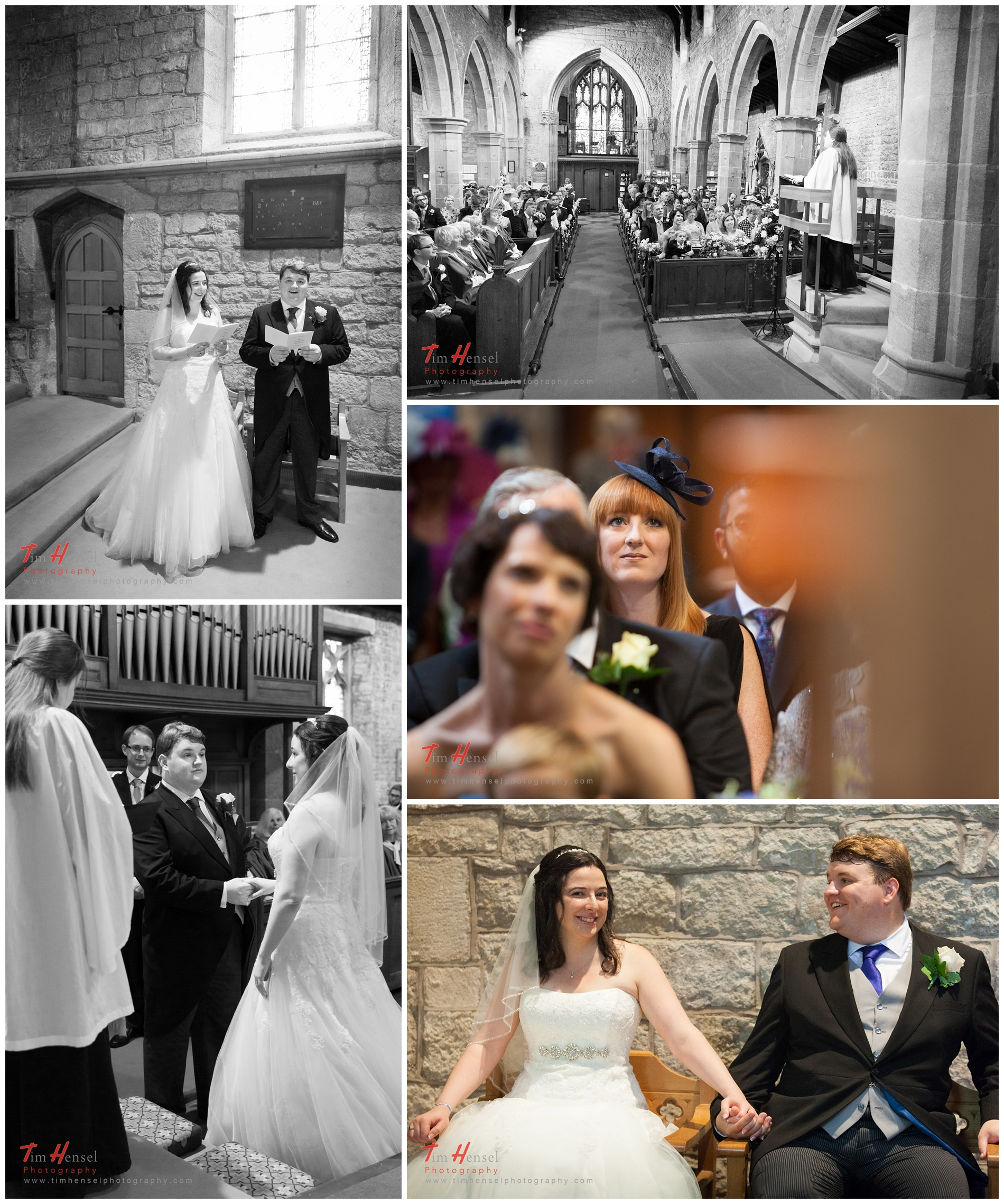 natural wedding photography at the church in hathersage
