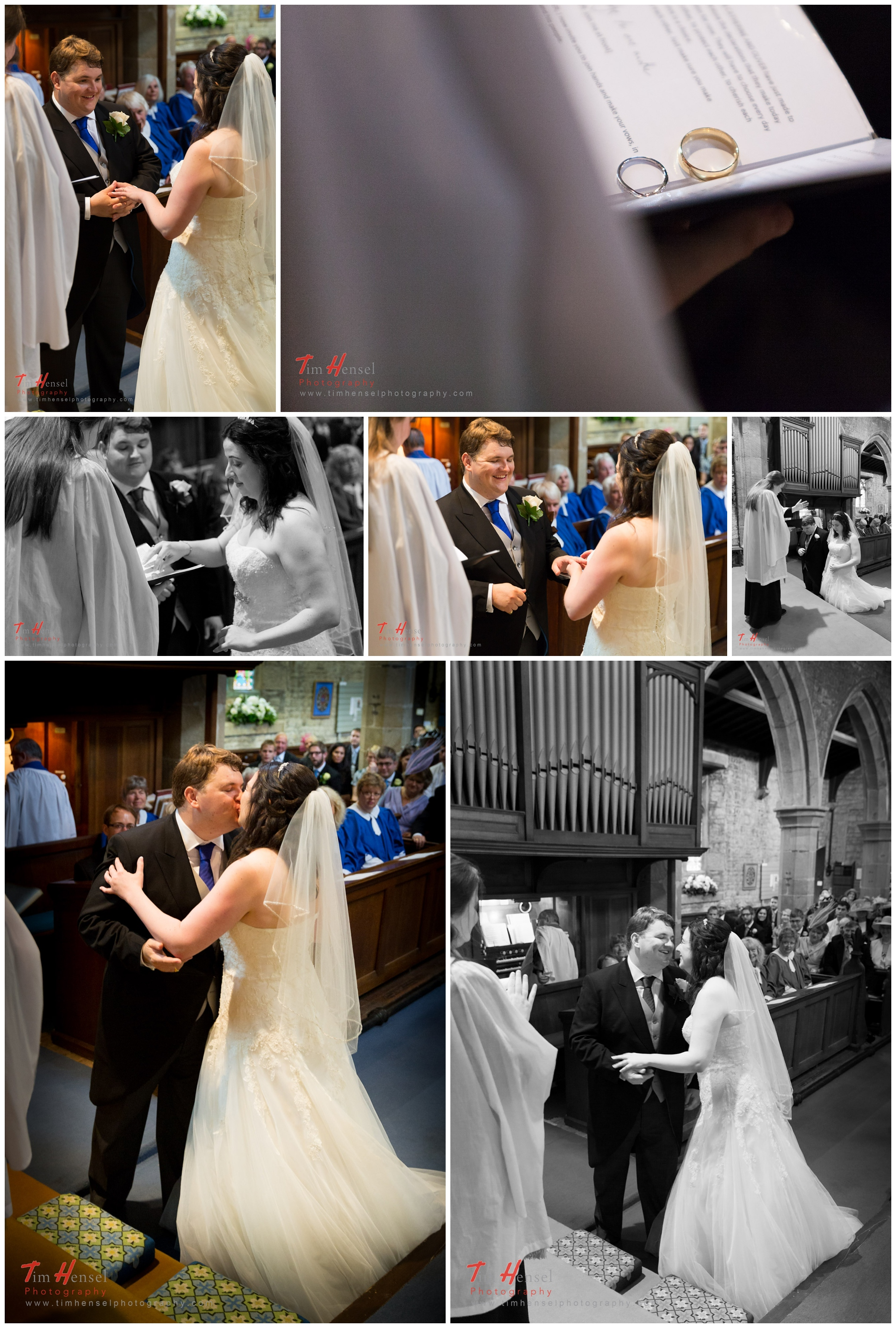 wedding photography in derbyshire, at st michael & all angels church