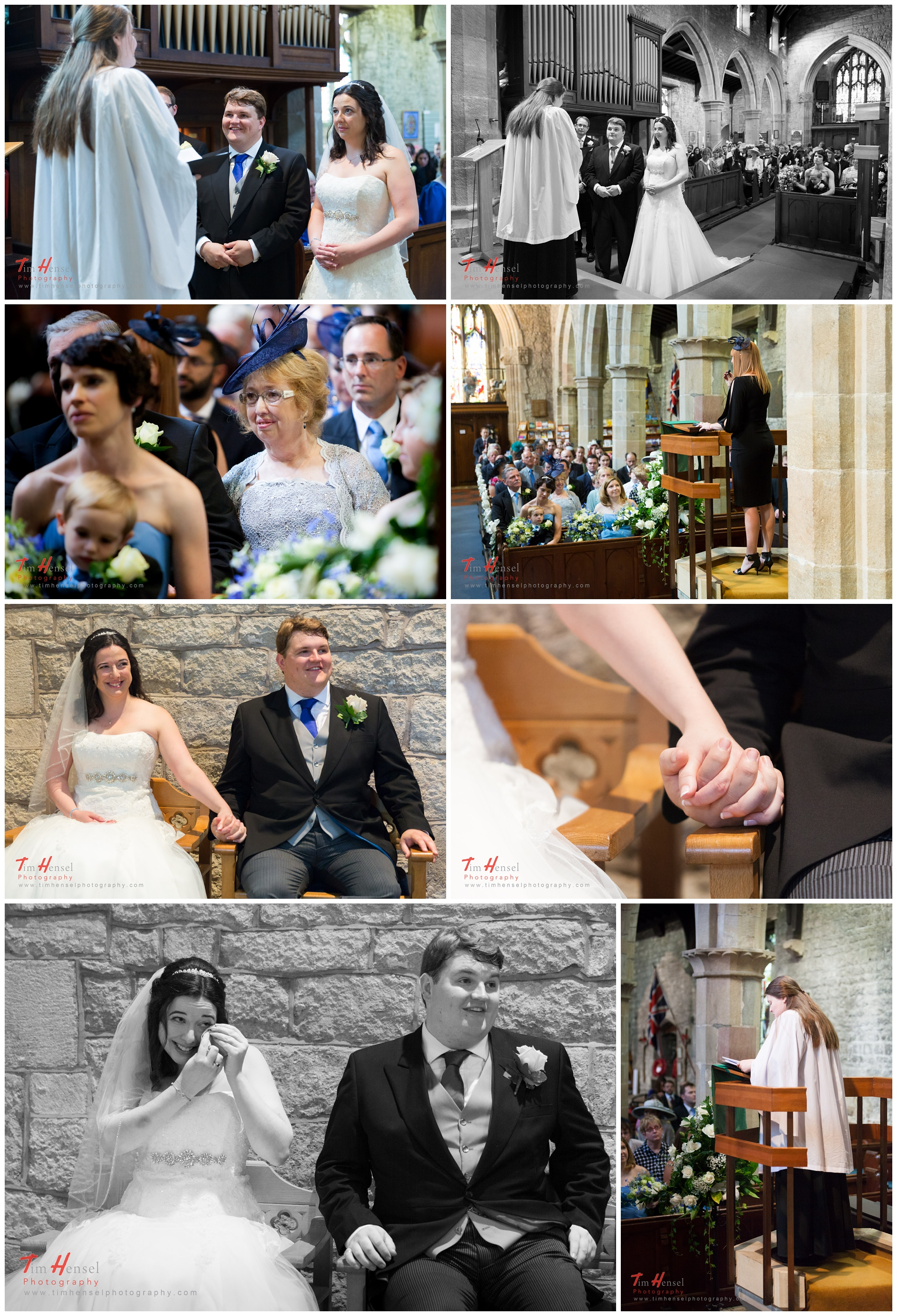 wedding photography in derbyshire at st michael & all angels church