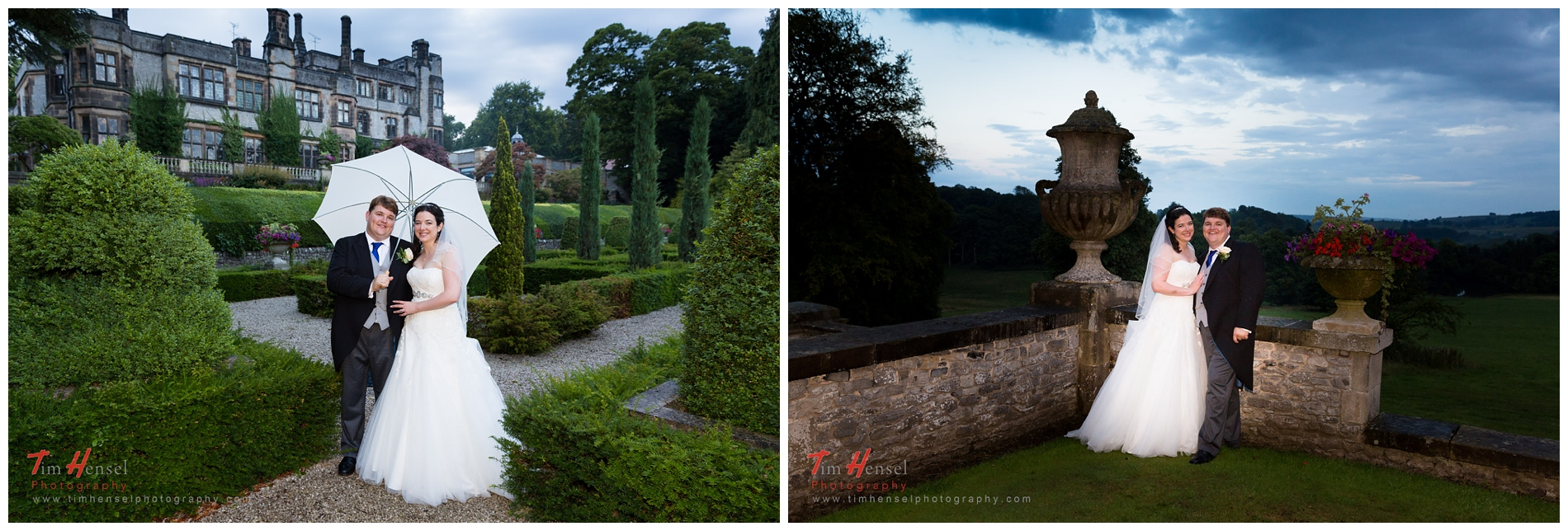 classic wedding photos at thornbridge hall