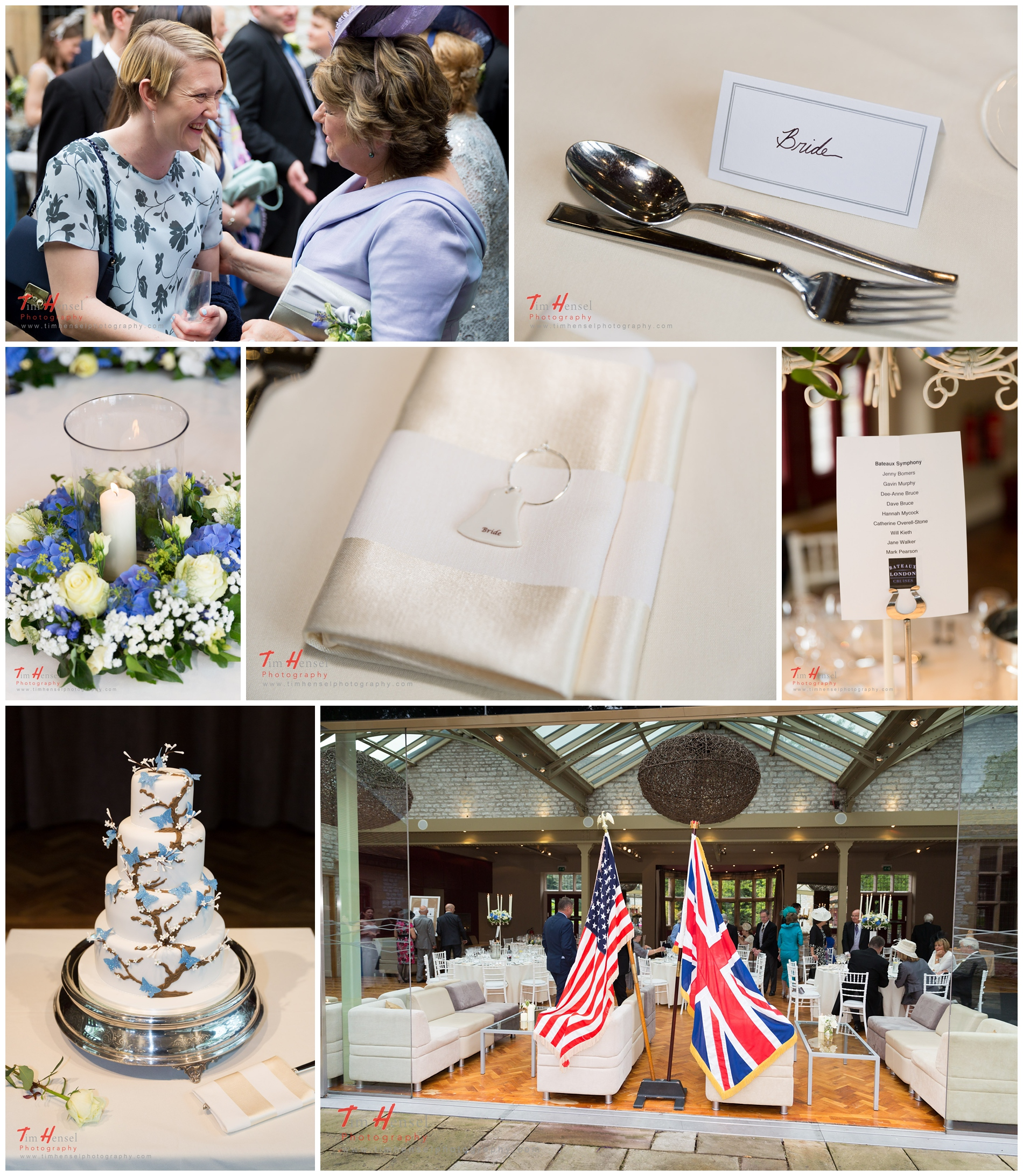 details at the wedding reception at thornbridge hall