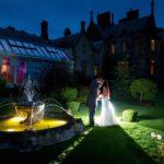 stunning late night wedding photo in cheshire