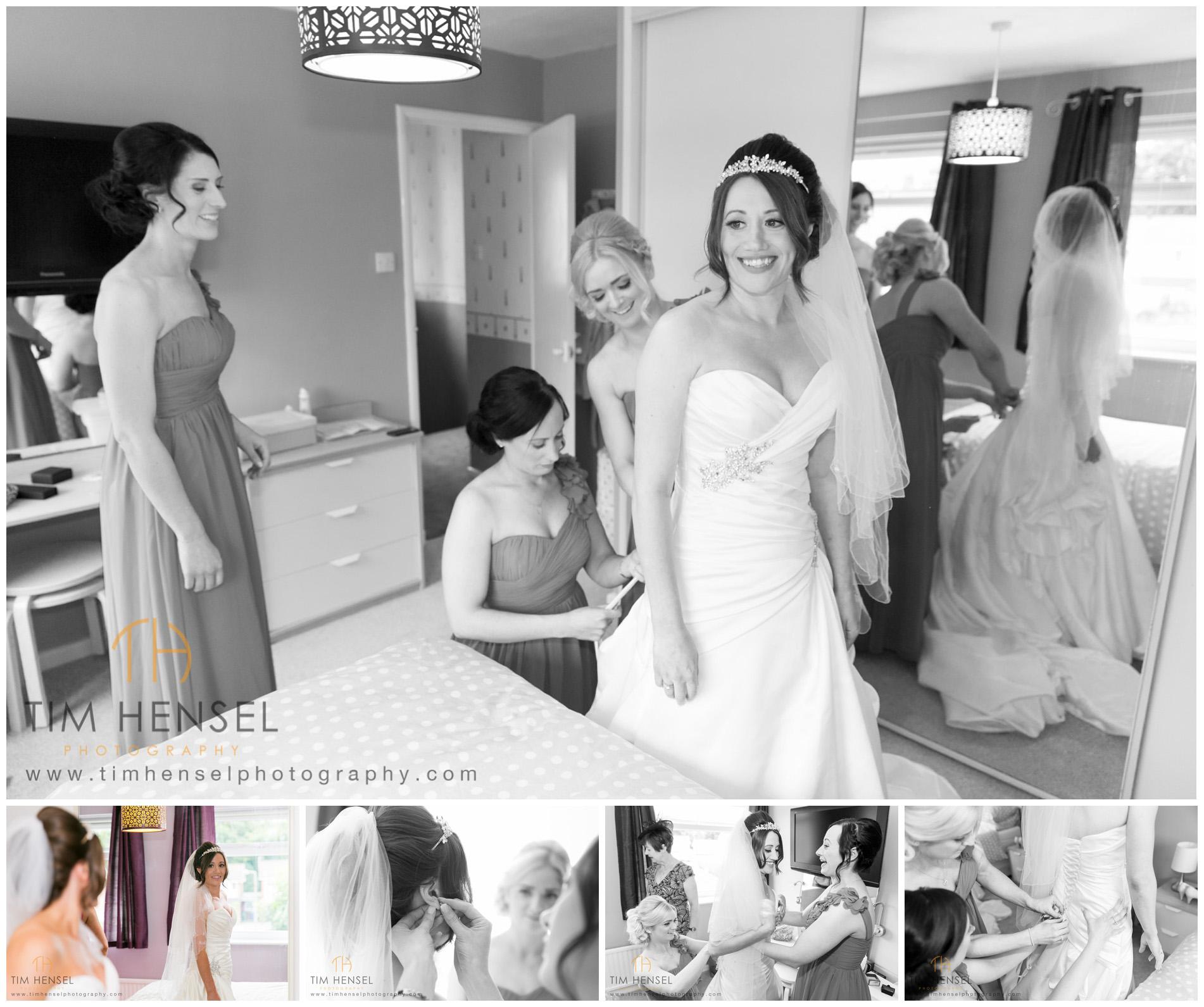 Bridal preparation wedding photographs