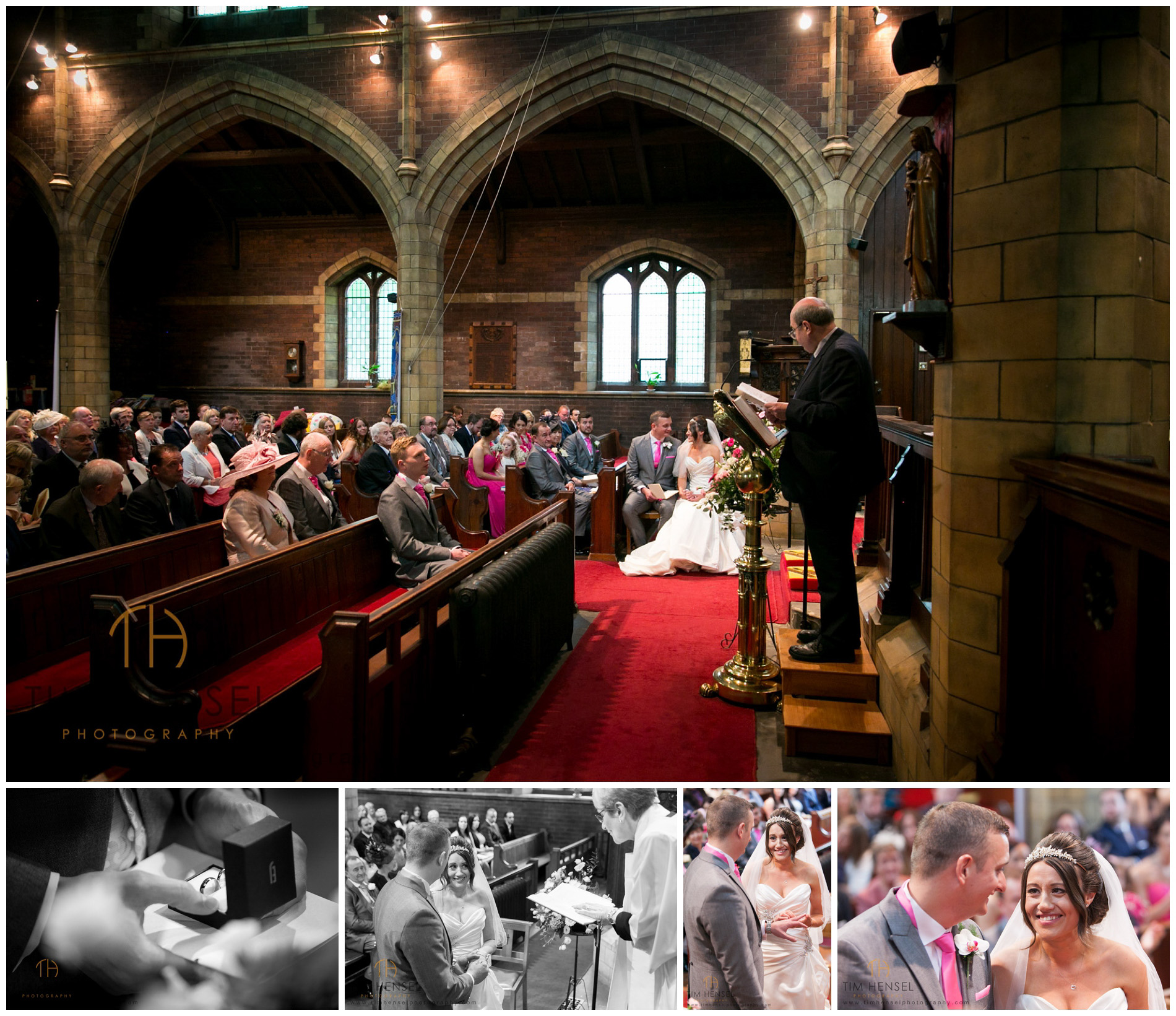 Photographing the details during the wedding ceremony