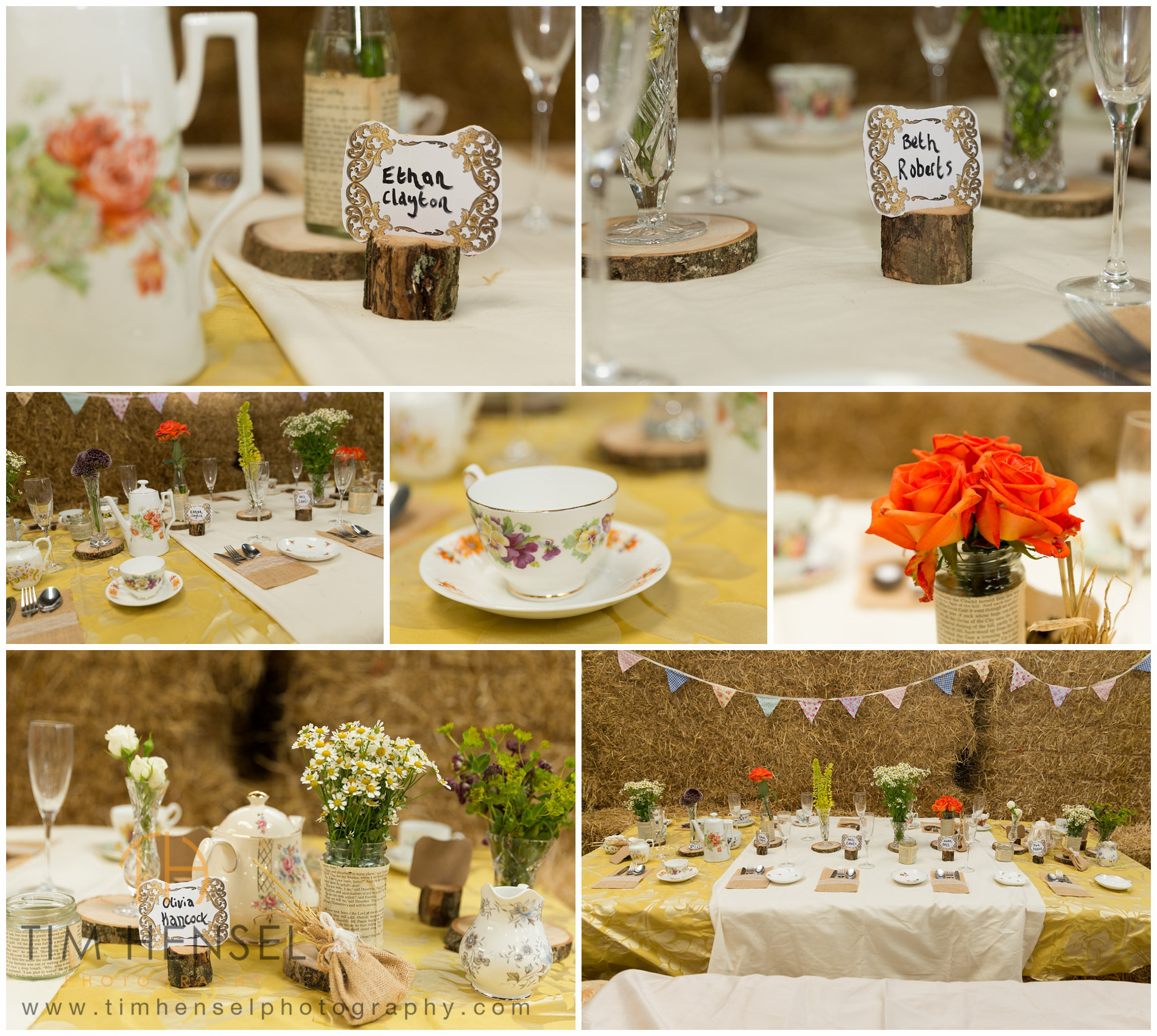Details And Place Settings For Rustic Wedding Photography In Derbyshire
