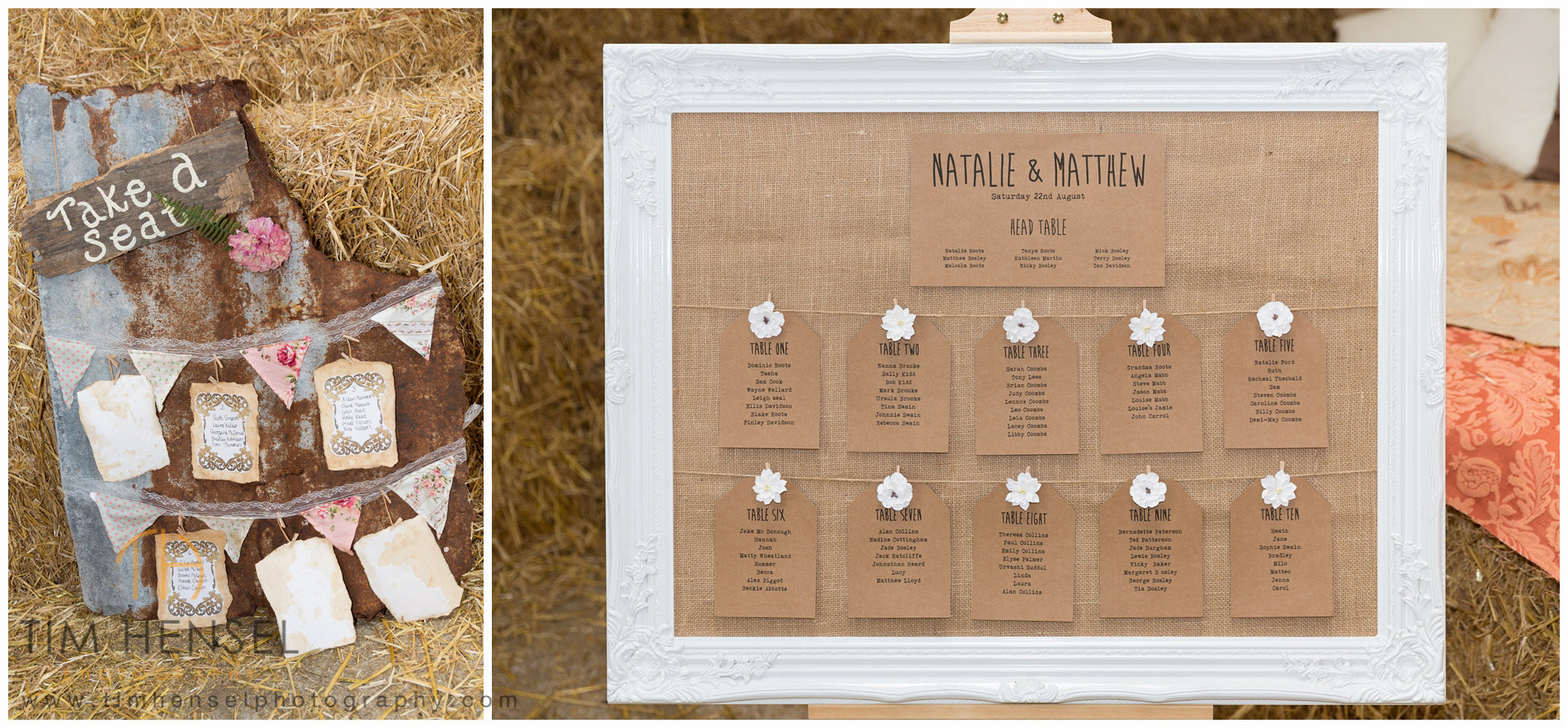 Rustic details for your wedding at Thornsett Fields Farm, Derbyshire