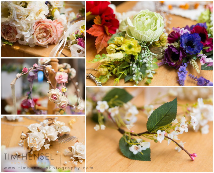 Flowers and details for the wedding photography shoot in Derbyshire