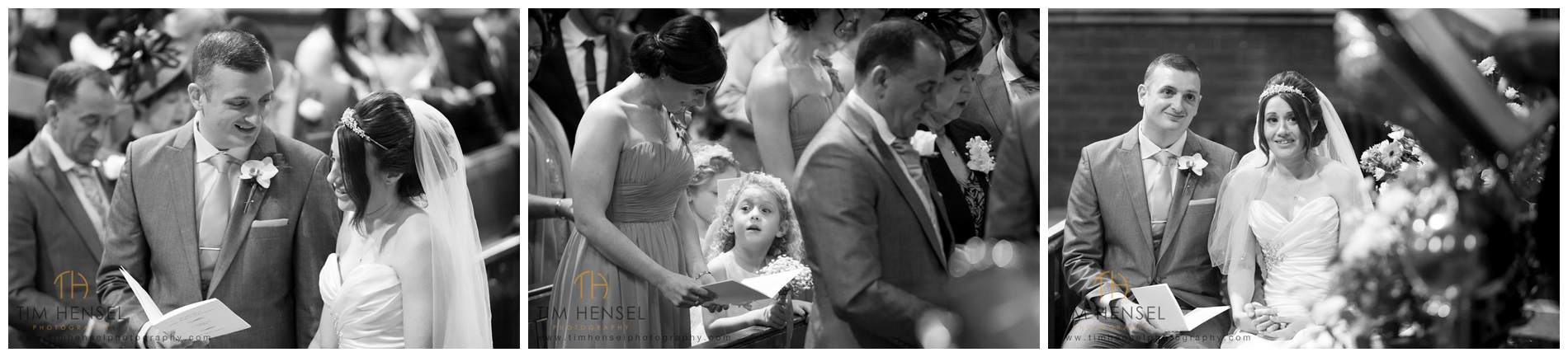 Documentary photographs capturing the wedding as it happens