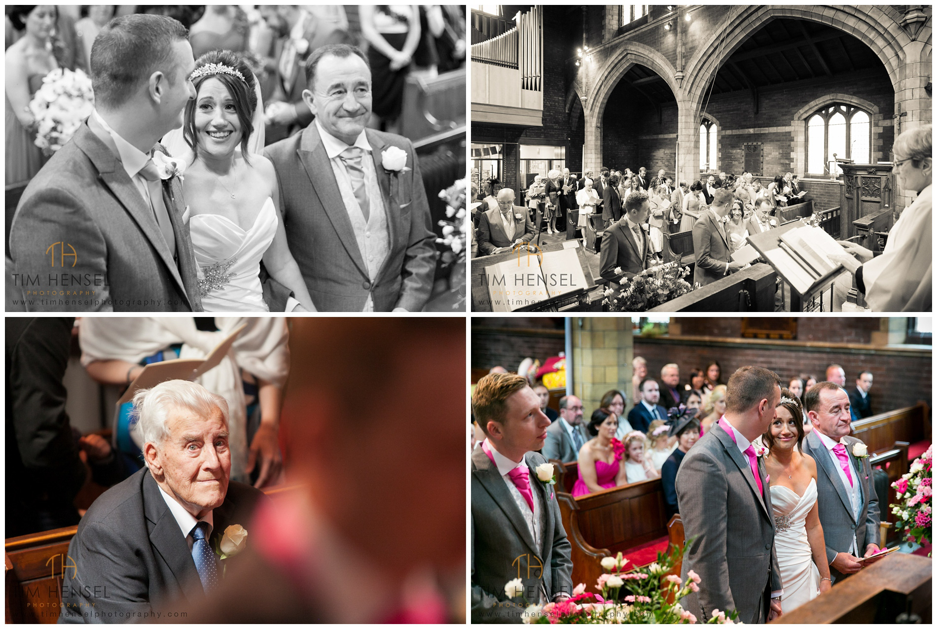 Natural photographs during the wedding ceremony in Cheshire