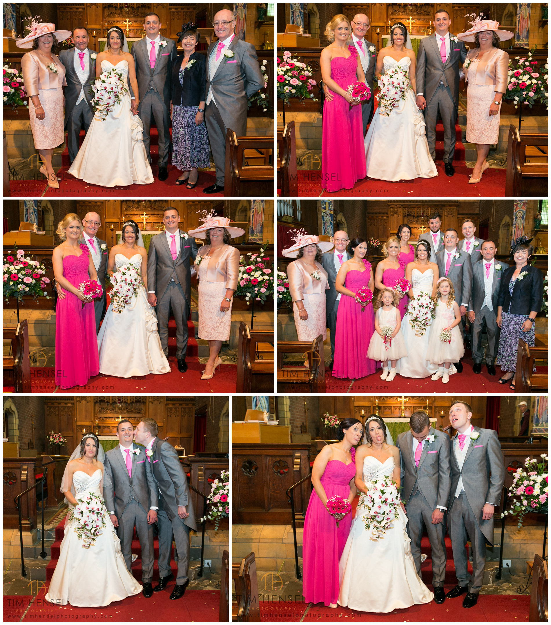 Family group wedding photographs in Stockport