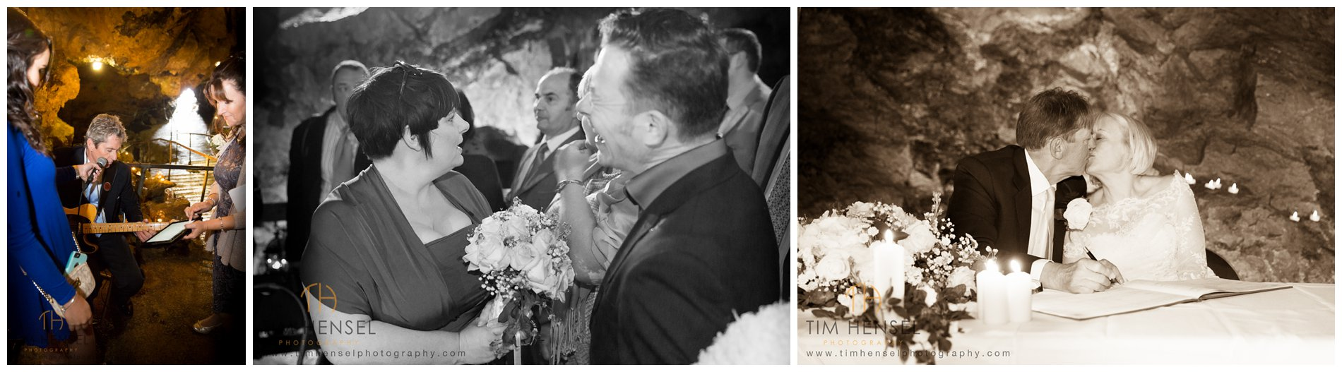 Wedding photography in Castleton, Derbyshire - in Treak Cliff Cavern
