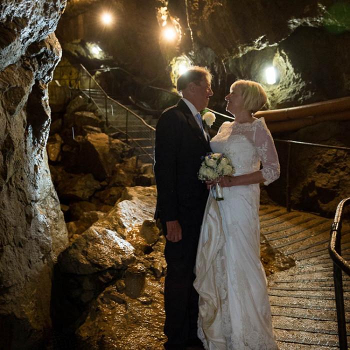 Treak Cliff Cavern, Castleton - creative wedding photography in Derbyshire by Tim Hensel