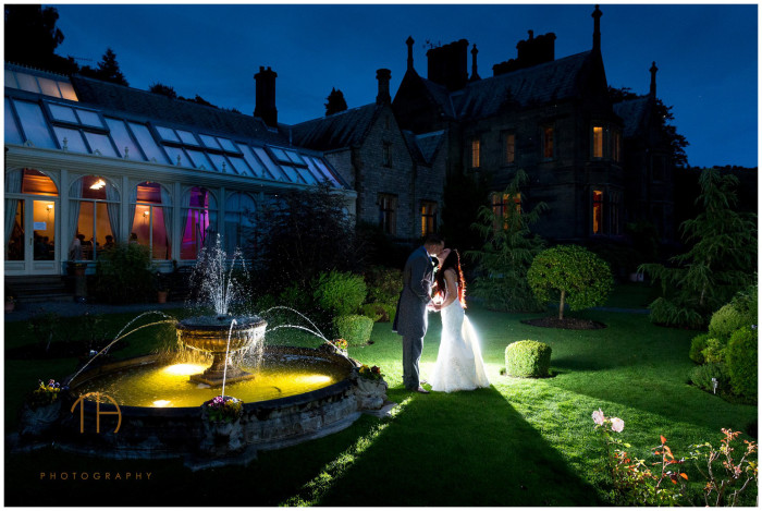 Creative wedding photography at Cressbrook Hall in Derbyshire by Tim Hensel