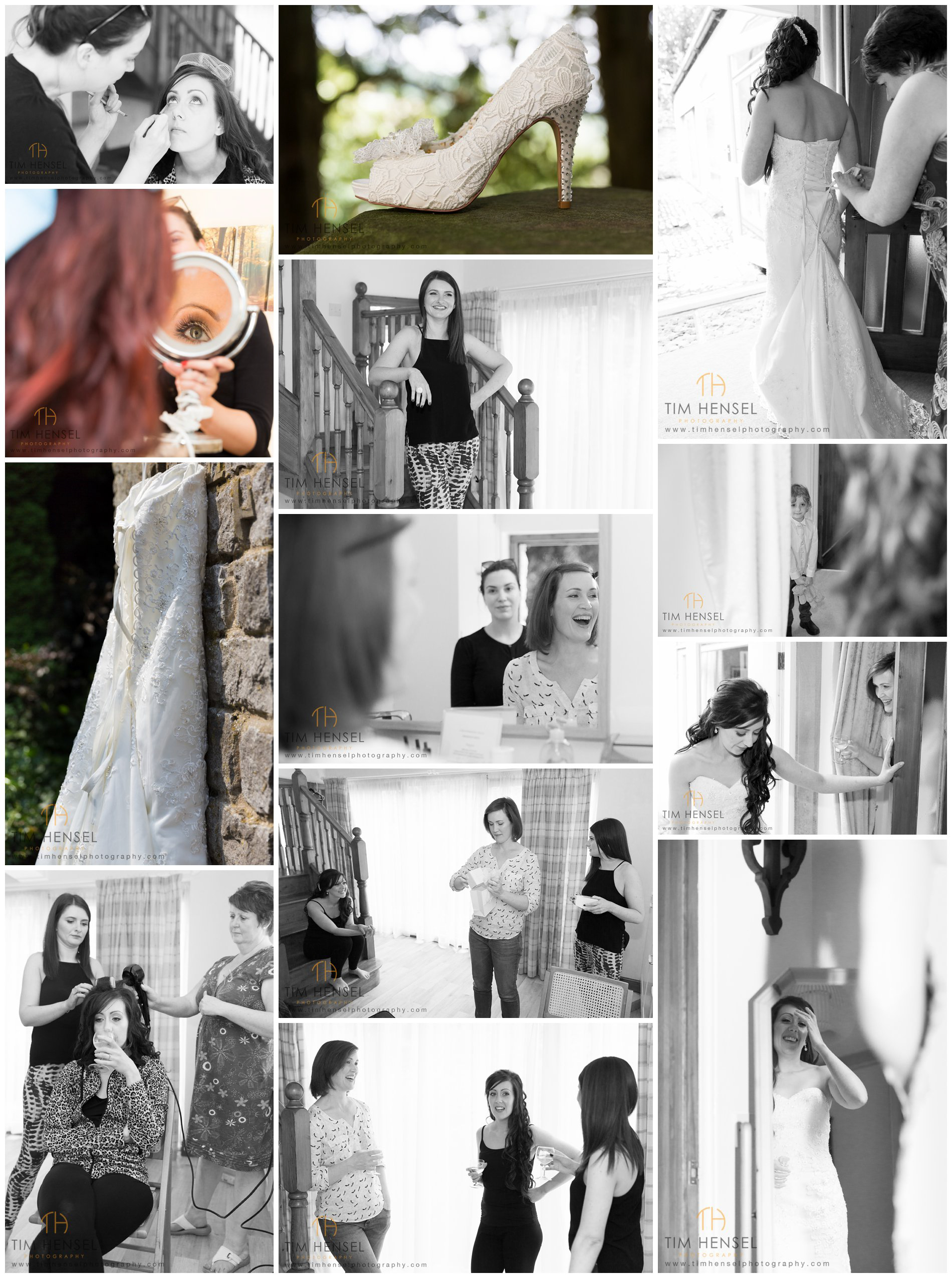 Wedding at Cressbrook Hall - the bride getting ready