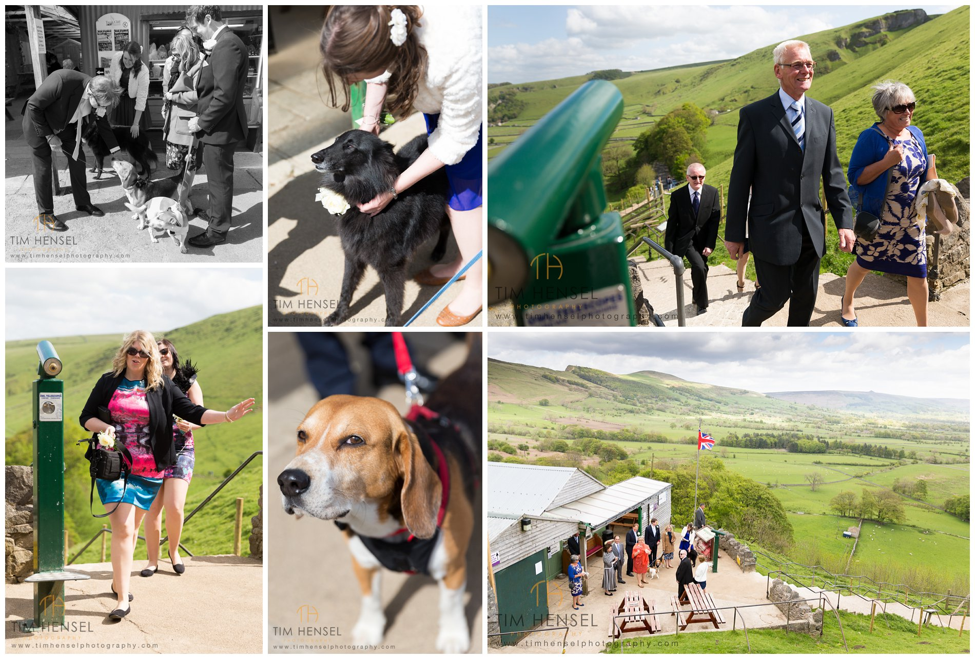 Guests arrive for a wedding at Treak Cliff Cavern in Derbyshire