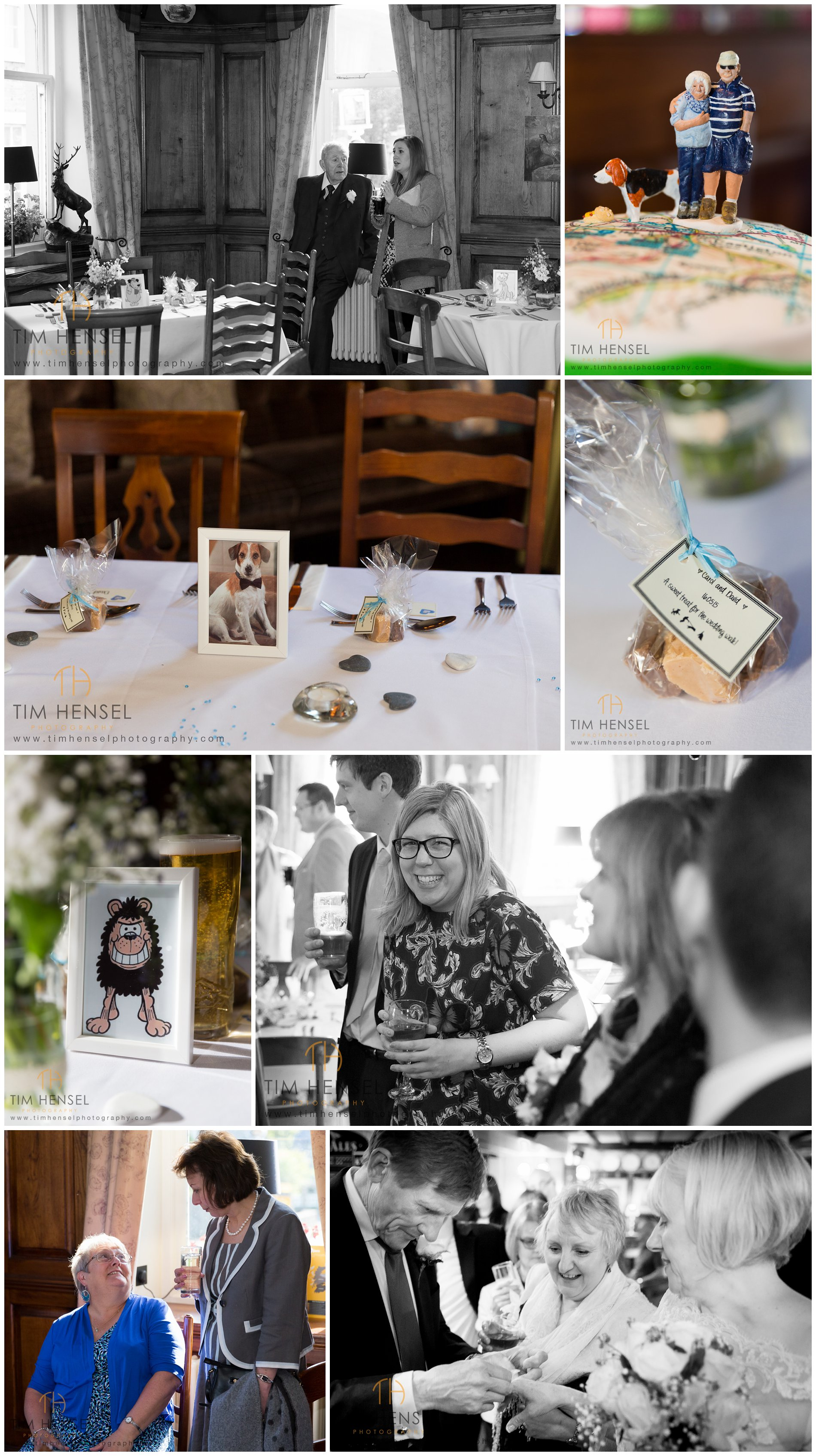 Details and photos of the wedding reception at The Bull's Head in Castleton, Derbyshire