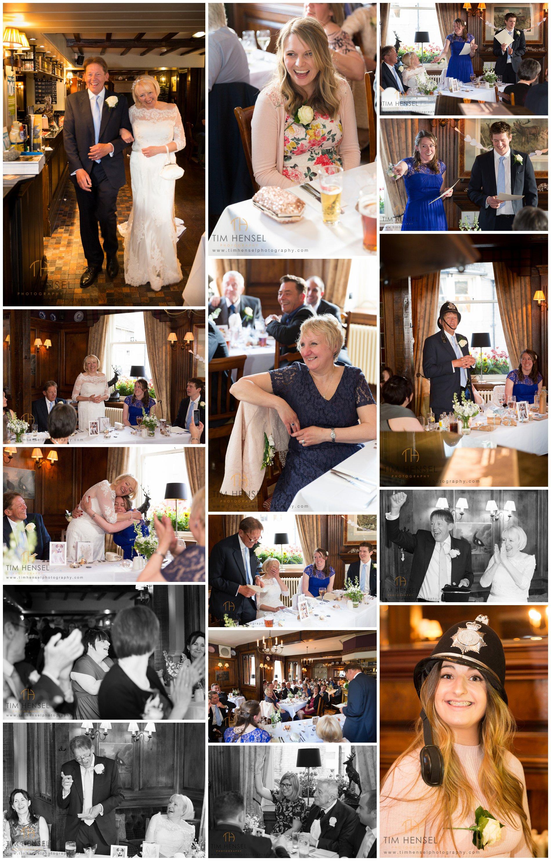 Wedding reception photos at The Bull's Head in Castleton, Derbyshire