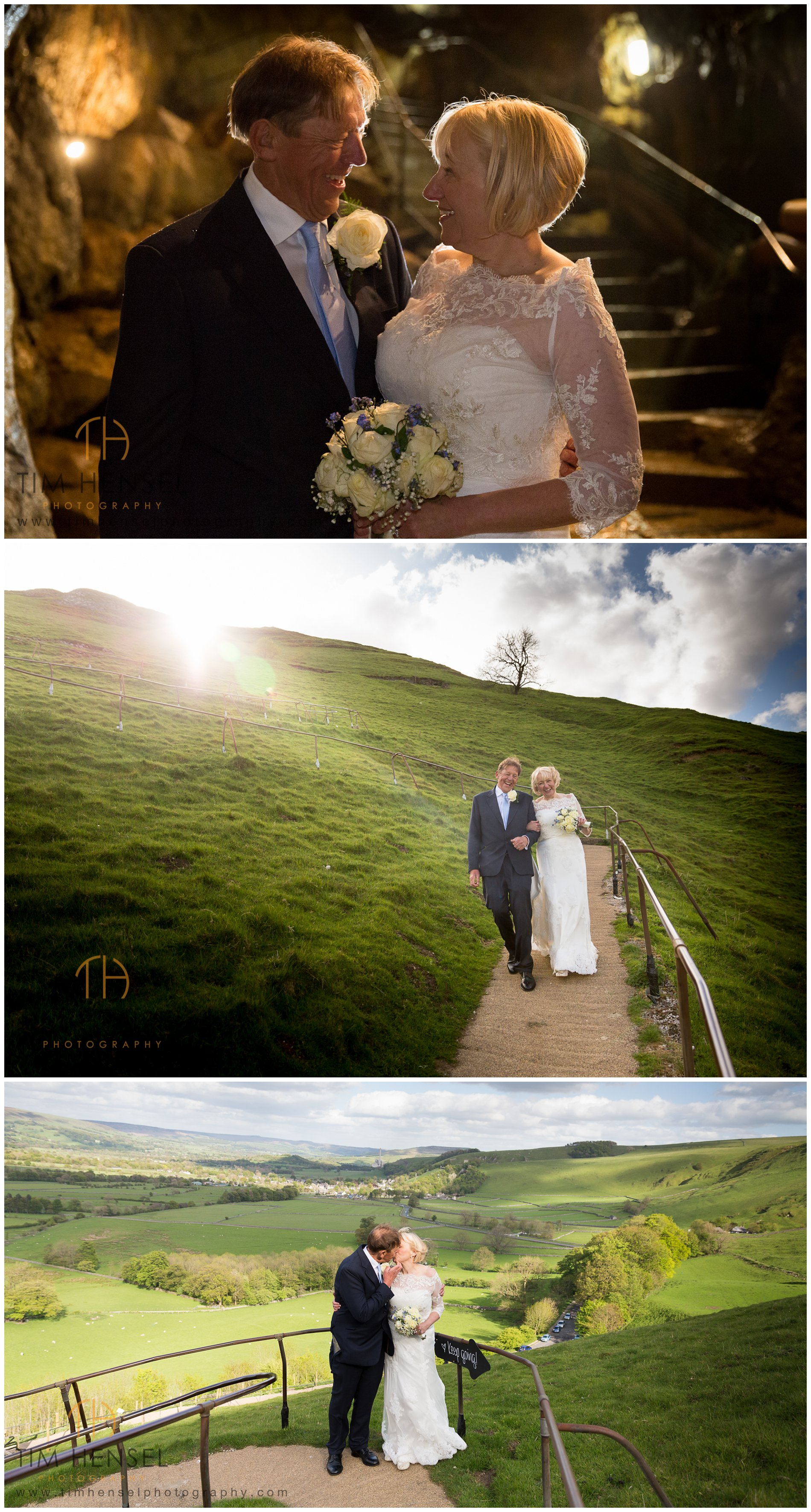 Wedding photography in Derbyshire, at Castleton and underground in a cavern.
