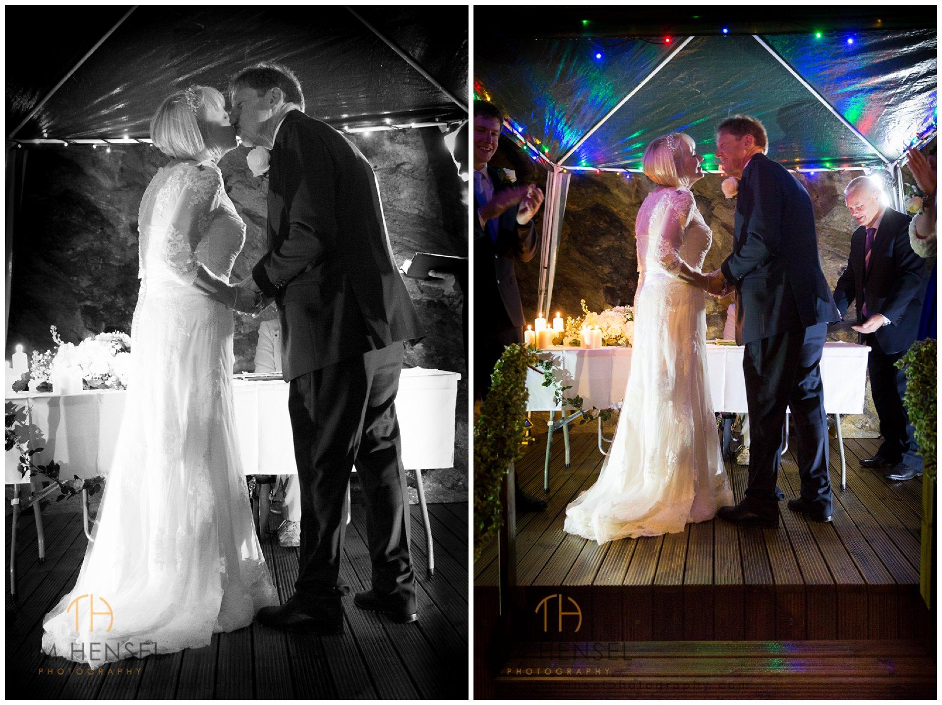 Wedding photography in Castleton, Derbyshire, underground in Treak Cliff Cavern
