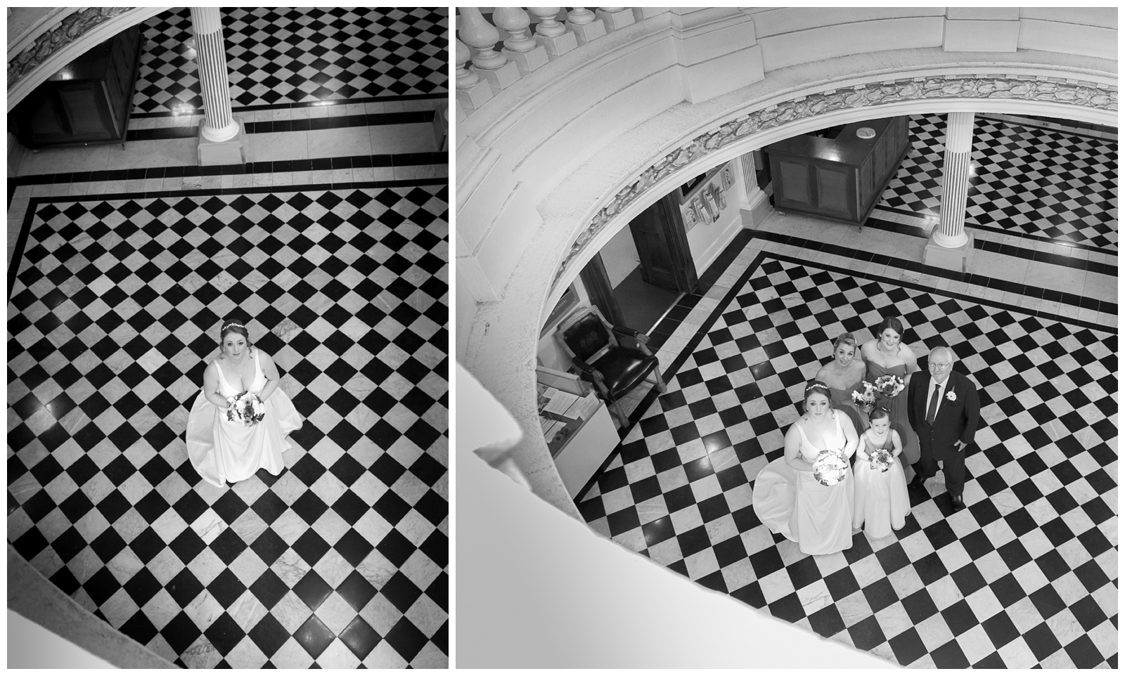 Creative wedding photography at Stockport Town Hall