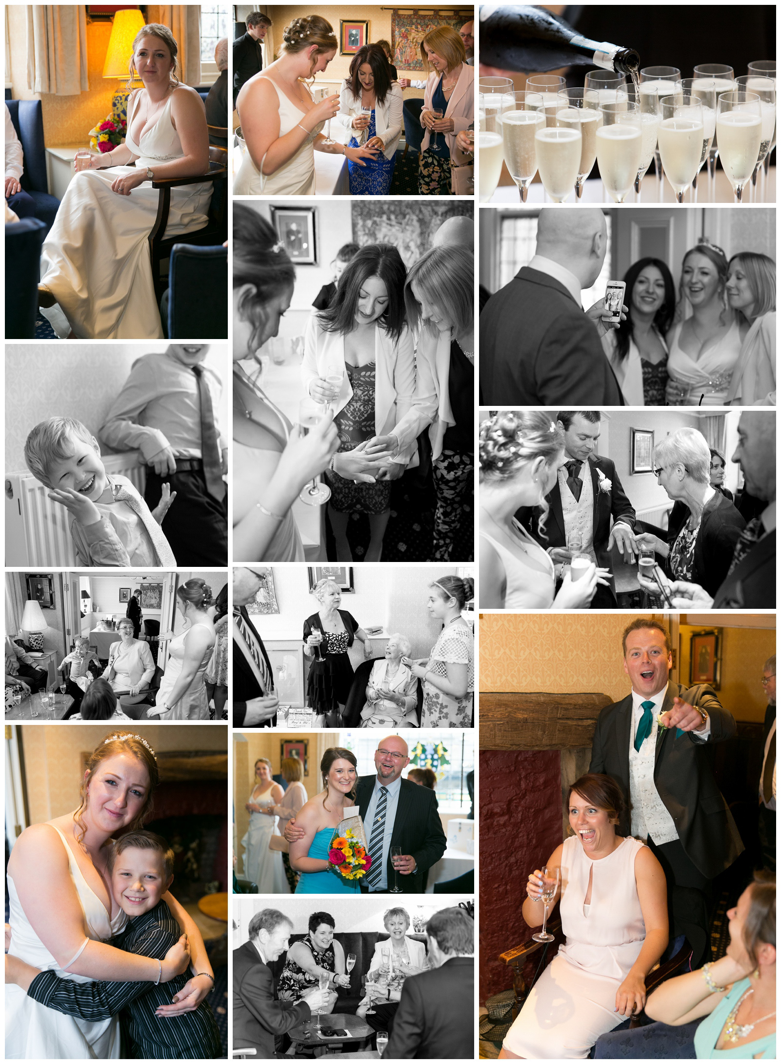 Wedding photography at the Old Hall Hotel in Buxton