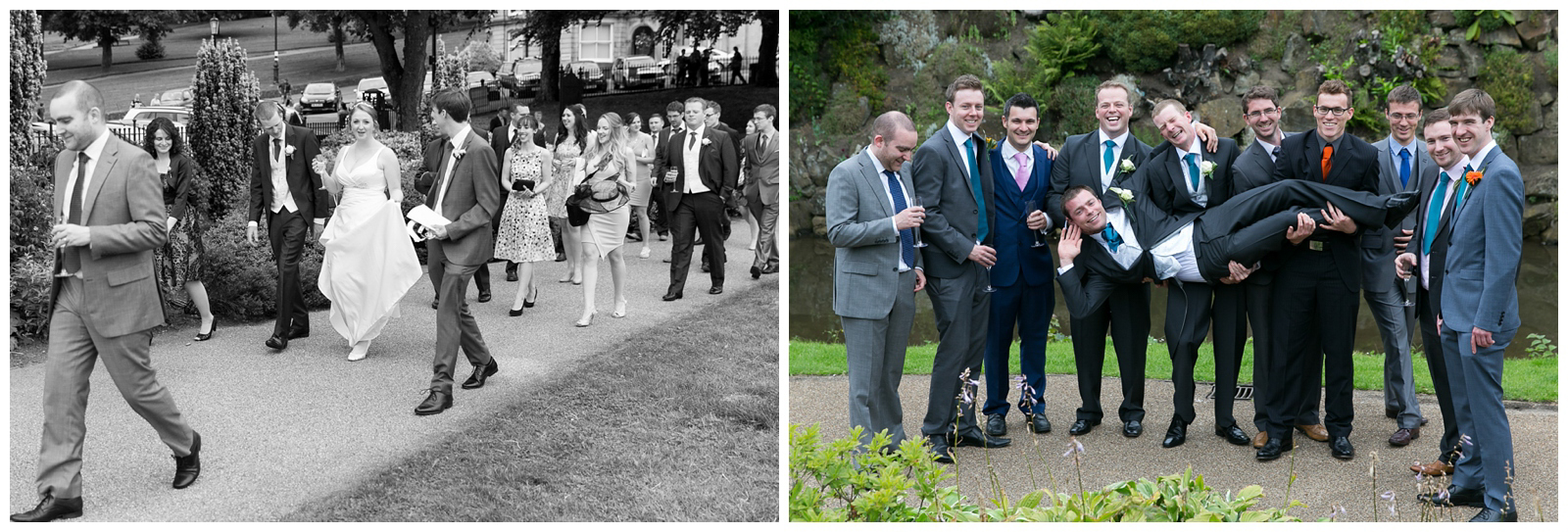 Wedding photography in the Pavilion Gardens in Buxton