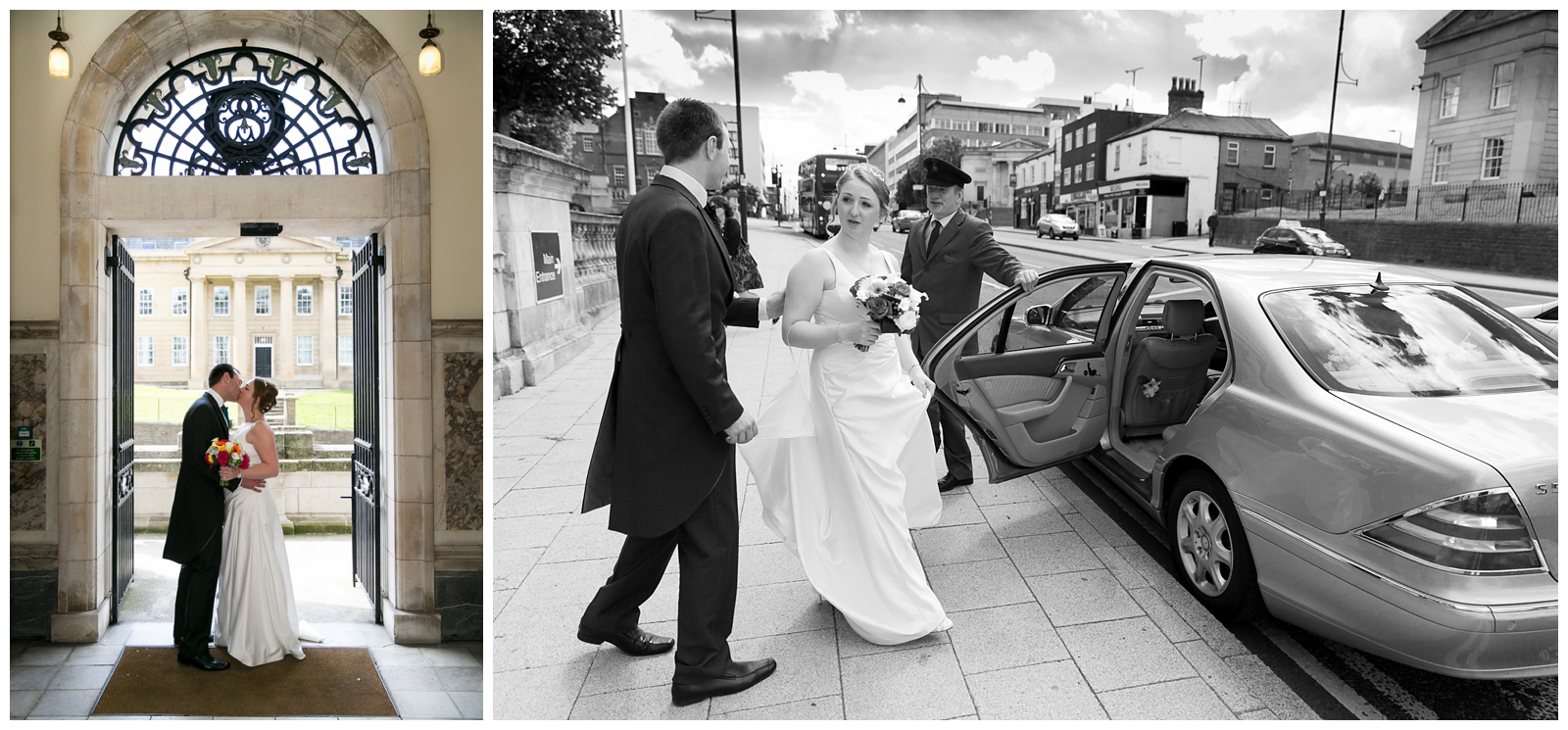 Natural wedding photography at Stockport Town Hall