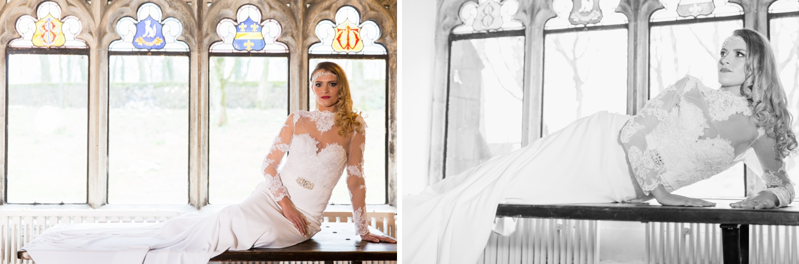 Bridal portrait photography at a Hargate Hall wedding