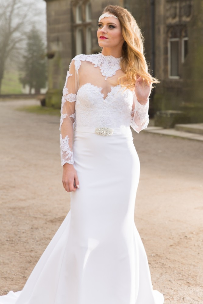 Wedding photography bride portrait at Hargate Hall