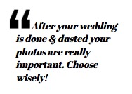 Tips on choosing a photographer for your wedding