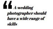 Wedding planning choosing a photographer