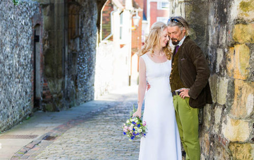 creative wedding photography at Lewes Town Hall in Sussex