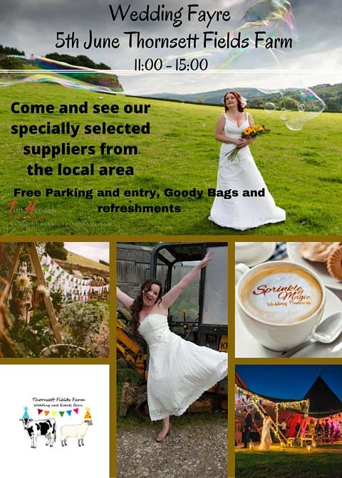 wedding fayre at Thornsett Fields Farm