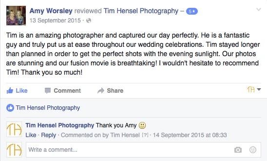 review of wedding photographer kent