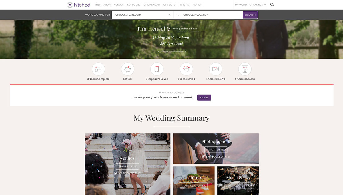 Planning wedding photography Kent